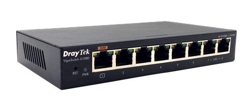 Thiết Bị Mạng Switch DrayTek 8 Port VigorSwitch G1080 Gigabit Smart