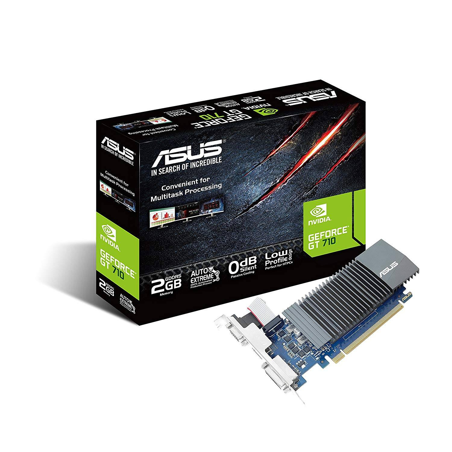 Card Màn Hình VGA Asus GeForce GT710 2GB DDR5 GT710-SL-2GD5-BRK