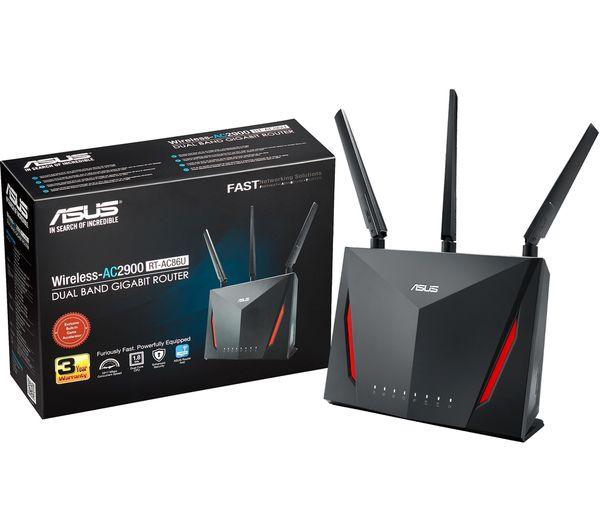 Thiết Bị Mạng Router Wifi Mesh ASUS Chuẩn AC2900 MU-MIMO Gaming RT-AC86U