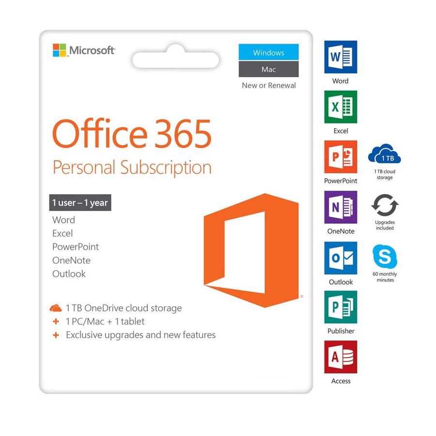 PHẦN MỀM OFFICE 365 PERSONAL 32BIT/X64 ENG QQ2-000807