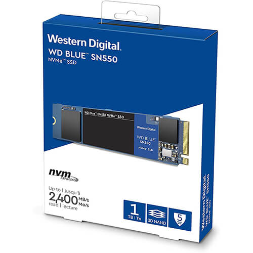 Ổ Cứng SSD Western WD 1TB M2 NVMe 2280 Blue SN550 - WDS100T2B0C