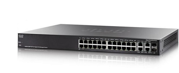 Thiết Bị Mạng Switch Cisco 28 Port Gigabit PoE Managed SG350-28P-K9-EU