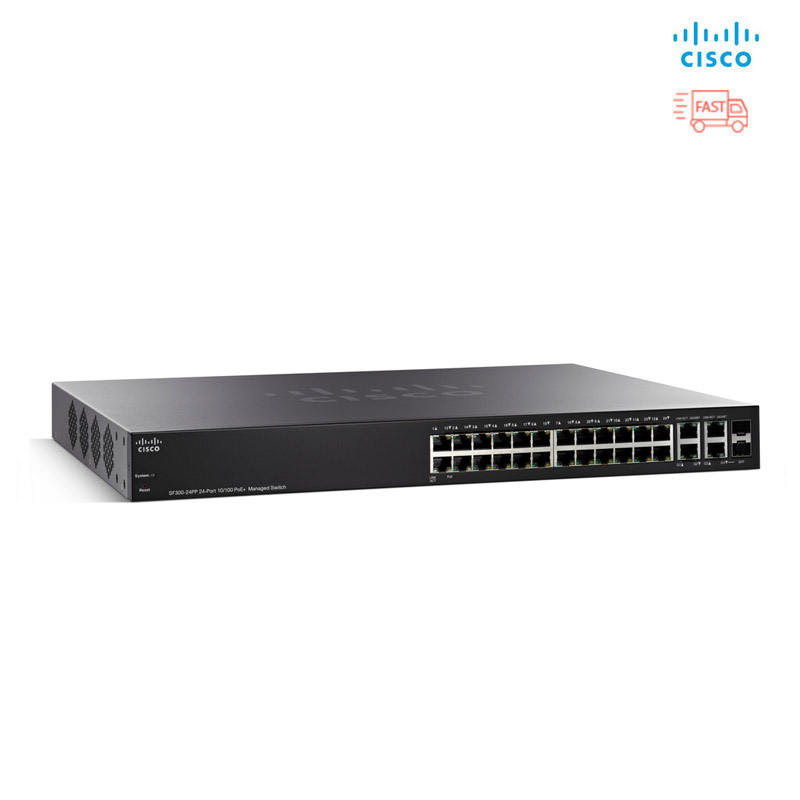 Thiết Bị Mạng Switch Cisco 28 Port Gigabit PoE Smart SG220-28MP-K9-EU