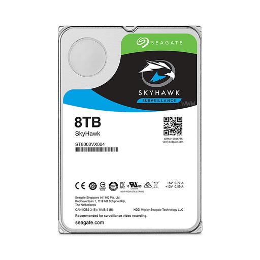 Ổ Cứng HDD Seagate Skyhawk 8TB 3.5inch 7200RPM SATA3 256MB Cache
