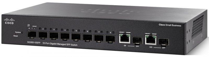 Thiết Bị Mạng Switch Cisco 10 Ports Gigabit Managed SFP SG350-10SFP-K9-EU