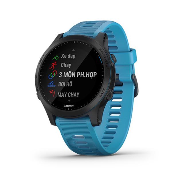 Vòng đeo tay theo dõi sức khỏe Garmin Forerunner 945, GPS, SEA, Blue_010-02063-71