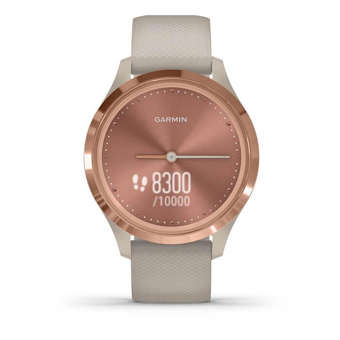 Vòng đeo tay theo dõi sức khỏe Garmin Vivomove 3S - Light Sand with Rose Gold Hardware_010-02238-82