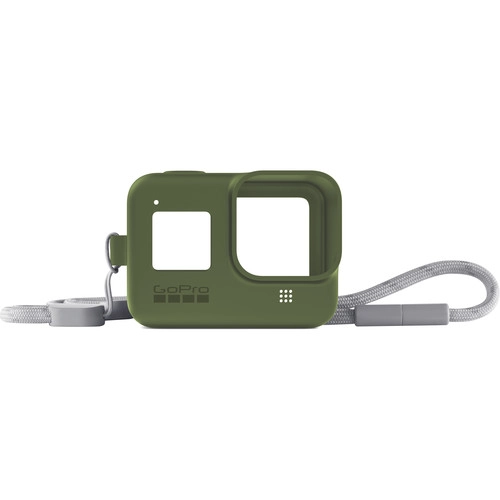 GoPro Silicone Sleeve and Adjustable Lanyard Kit for GoPro HERO8 (Turtle Green)