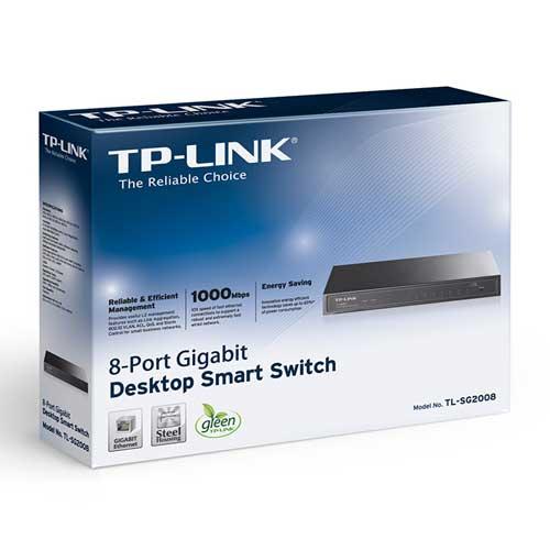 Thiết Bị Mạng Switch TP-Link 8 Ports Smart Gigabit T1500G-8T TL-SG2008