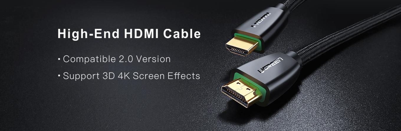 Cáp HDMI 2.0 Cao Cấp Ugreen 40411 Dài 3m Hỗ Trợ 3D 4K