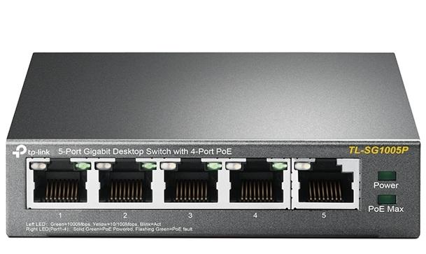Thiết Bị Mạng Switch TP-Link 5 Ports Gigabit Với 4 Cổng PoE TL-SG1005P