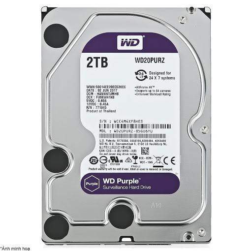 Ổ Cứng HDD WD Purple 2TB 3.5 inch SATA III 64MB Cache 5400RPM WD20PURZ