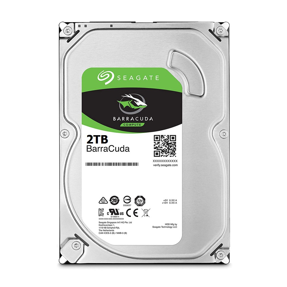 Ổ Cứng HDD Seagate BarraCuda 2TB 3.5 inch SATA III 256MB Cache 7200RPM