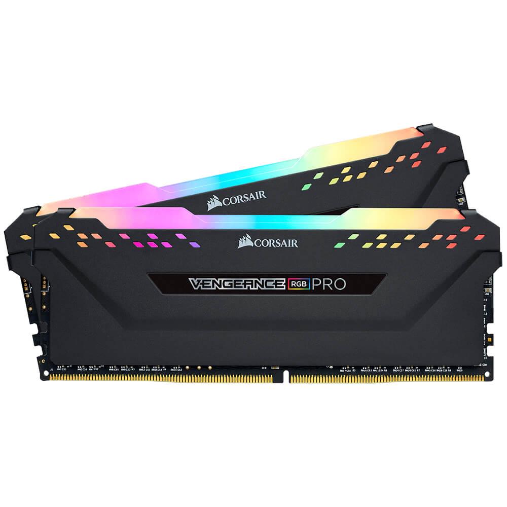 Bộ Nhớ RAM Corsair Vengeance RGB Pro 64GB (2 x32GB) DDR4 3200C16 - Black