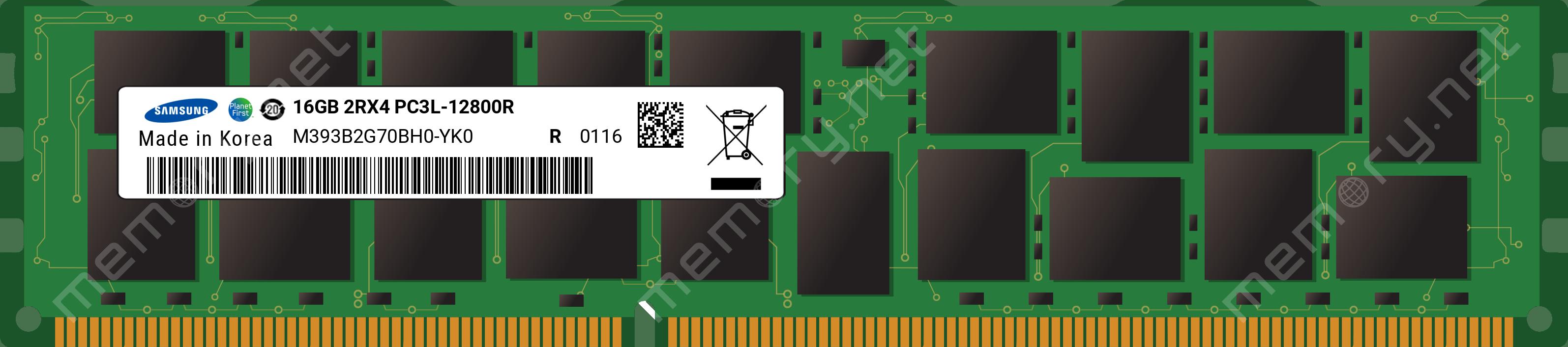 Bộ Nhớ RAM DDR3-1600 16GB ECC/REG Samsung Chip Server Memory
