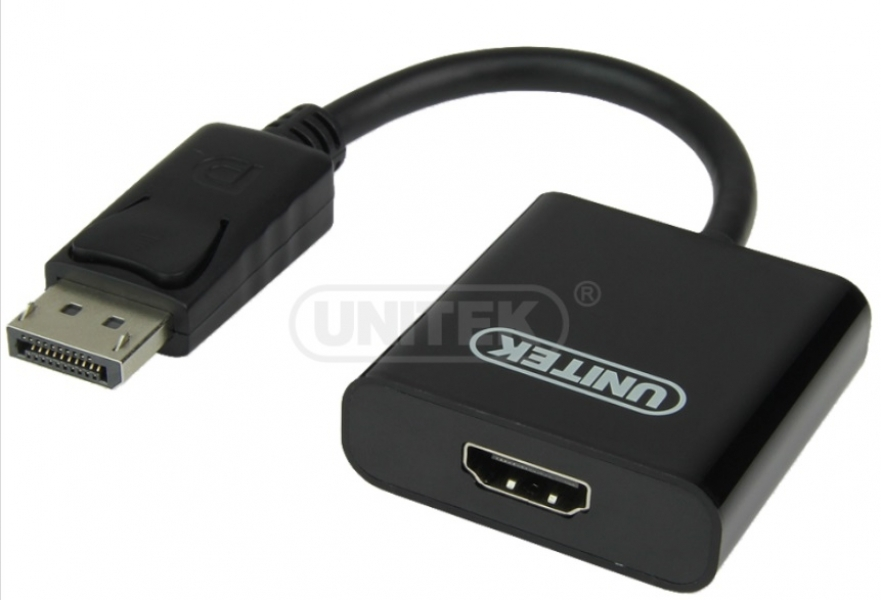 Cáp chuyển đổi Displayport sang Cổng HDMI 0.2m Unitek (Y 5118DA) (F)