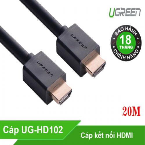 Cáp HDMI Dài 20M Cao Cấp Hỗ Trợ Ethernet + 4k 2k HDMI Chính Hãng Ugreen