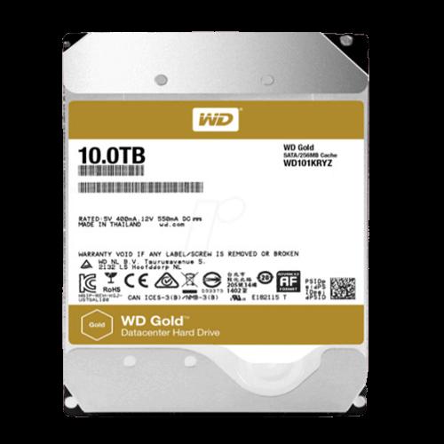 10TB WD Gold Datacenter - SATA 6Gb/s - WD101KRYZ