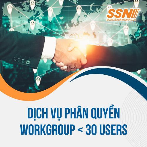 Gói Dịch Vụ Phân Quyền Workgroup < 30 users