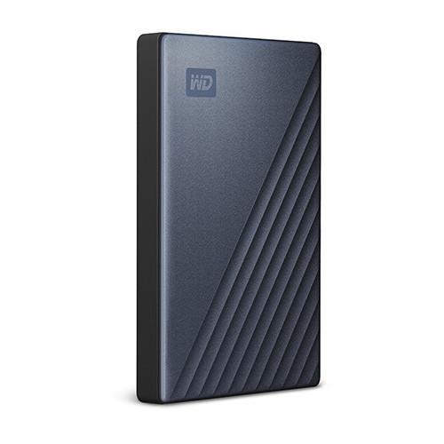Ổ cứng di động WD My Passport Ultra 4TB - Blue (USB-C kèm đầu chuyển USB 3.0 type A)