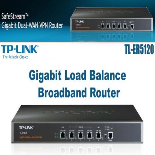 Thiết Bị Mạng Router TP-Link Cân Bằng Tải 5 Ports Multi-WAN Gigabit TL-ER5120