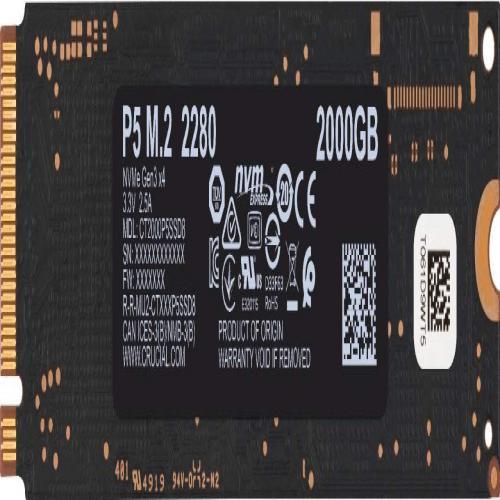 Ổ Cứng SSD Crucial P5 2TB NVMe 3D-NAND M.2 PCIe Gen3 x4