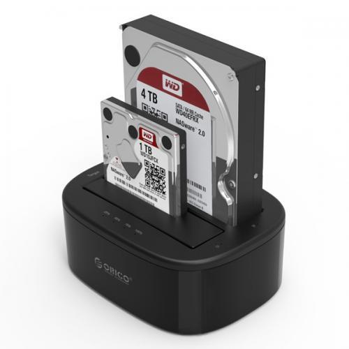 Đế Ổ Cứng Docking Orico 6228US3-C 2 Khe Cắm USB3.0