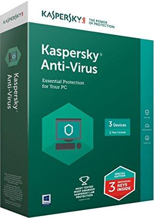 Phần mềm diệt virus Kaspersky Anti Virus (3 User)
