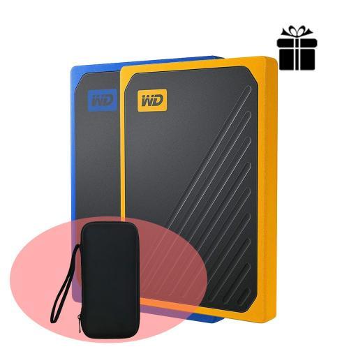 Ổ cứng di động External SSD 500GB Western Digital My Passport Go WDBMCG5000ABT-WESN BLUE