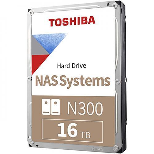 Ổ Cứng HDD 3.5inch Toshiba N300 16TB NAS SATA 7200RPM 256MB Cache (HDWG31GUZSVA)