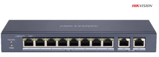 Thiết Bị Mạng Switch PoE HIKVISION 8-Ports 10/100Mbps Unmanaged DS-3E0310P-E/M