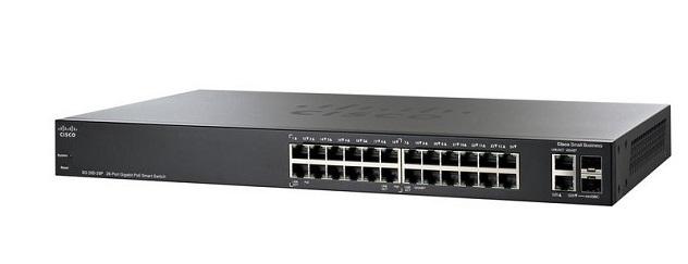 Thiết Bị Mạng Switch Cisco SG250-26HP-K9 24 Ports PoE+ 100W 2x1GE Uplink