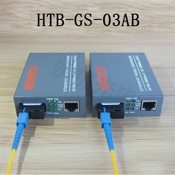 Thiết Bị Chuyển Đổi Quang Điện 1 Sợi Media Converter 1FO 1Q 1LAN 1Gbps Netlink HTB-GS-03AB