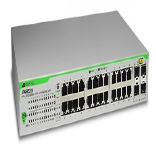 Thiết Bị Mạng Switch Allied Telesis 24 Ports 10/100/1000T Eco-Friendly WebSmart 4 SFP Combo Ports AT-GS950