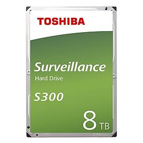 Ổ Cứng HDD Toshiba 8TB S300 Surveillance 3.5inch 7200RPM SATA3 6Gb/s 256MB Cache