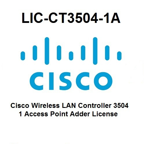 License Cisco 3504 Wireless Controller 1 Acess Point Adder LIC-CT3504-1A