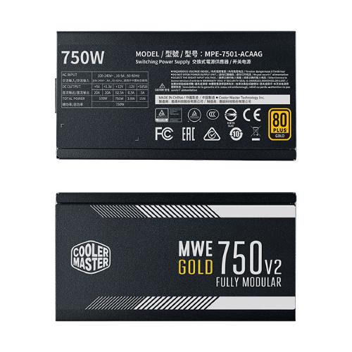 Nguồn Cooler Master 750W MWE 750 – V2 80 Plus Gold Full Modular MPE-7501-AFAAG-EU