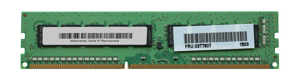 Bộ Nhớ RAM IBM 1x 8GB DDR3-1600 ECC UDIMM PC3-12800E Dual Rank