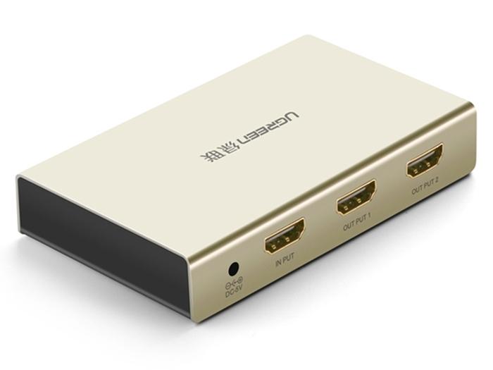 Bộ chia HDMI 1 ra 2 cổng hỗ trợ 4Kx2K full HD 1080P chính hãng Ugreen 40276 cao cấp