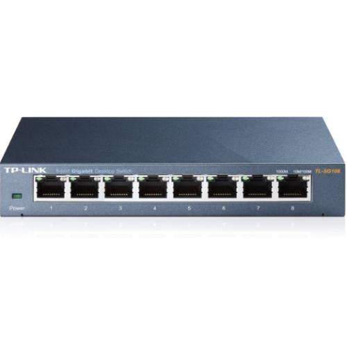 Thiết Bị Mạng Switch TP-Link Gigabit 8 Ports 10/100/1000Mbps TL-SG108
