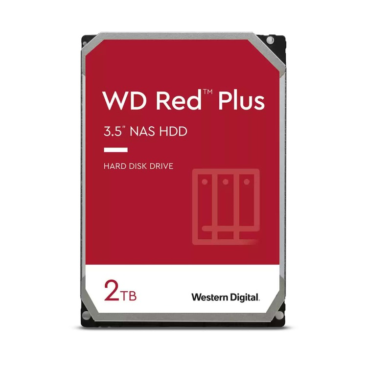 Ổ Cứng HDD WD Red Plus 2TB 3.5 inch SATA 3 6Gb/s 128MB Cache 5400RPM