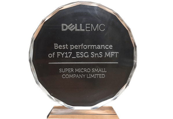 Giải thưởng BEST PERFORMANCE OF FY17_ESG SNS MFT